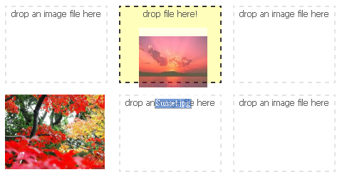 HTML5 Drag & Drop Image File Uploader jQuery Plugin