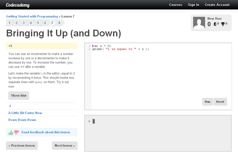 Interactive Way to Learn Programming with Codecademy