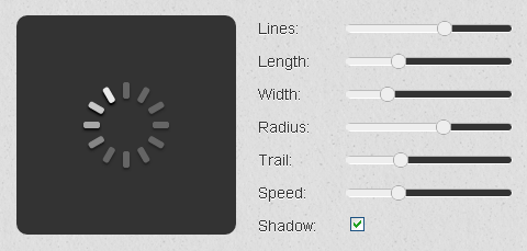 Create Spinning Progress Indicator with Spin.js