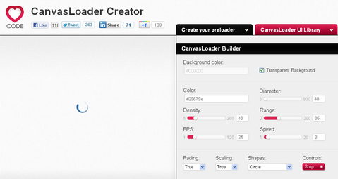 Create HTML5 Canvas Preloaders with CanvasLoader