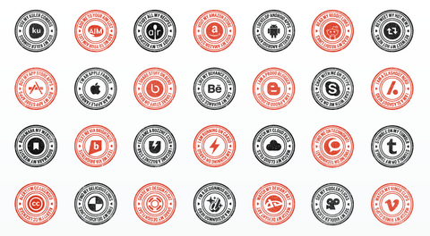 100 Most Favorite Social Media Stamps for Free