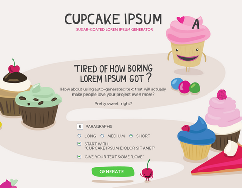 Cupcake Auto-Generated Text is Really Sweet