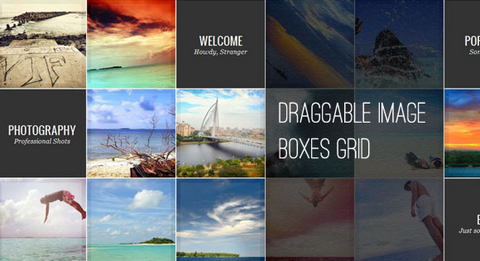 How to Create a Draggable Image Boxes Grid