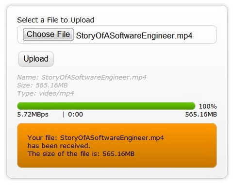 Tutorial: HTML5 File Upload with Progress Bar