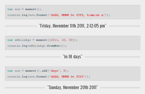 Parsing, Manipulating & Formatting Dates with Moment.js