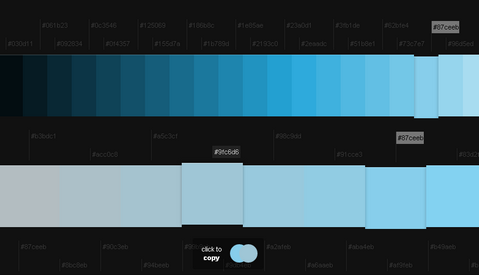 Blue Color Palette Blue Color Names Palette