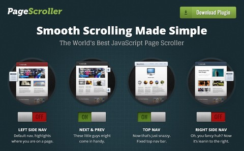 Smooth Scrolling Navigation with Page Scroller jQuery Plugin