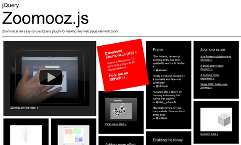 Making any Webpage Element Zoom with jQuery