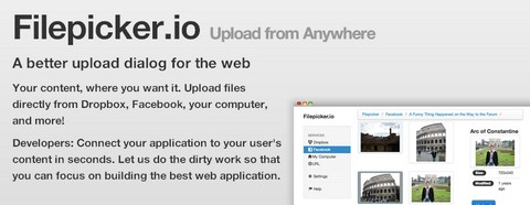 Filepicker.io – A Handy Upload Form for the Web
