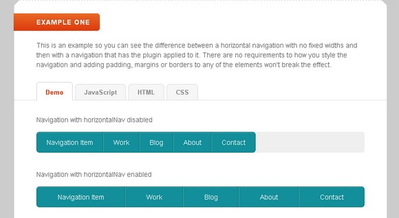 Responsive Horizontal Navigation Menu jQuery Plugin