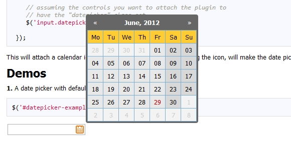 Highly Configurable Zebra Datepicker jQuery Plugin