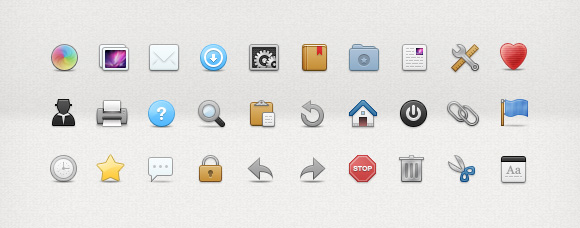 30 Toolbar Icons for User Interface Design