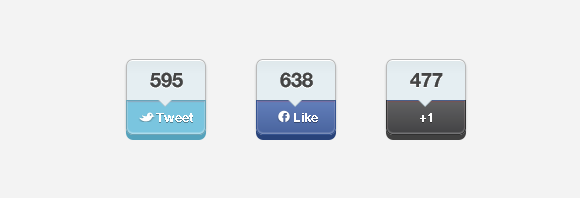 Social Media Buttons Integration jQuery Plugin