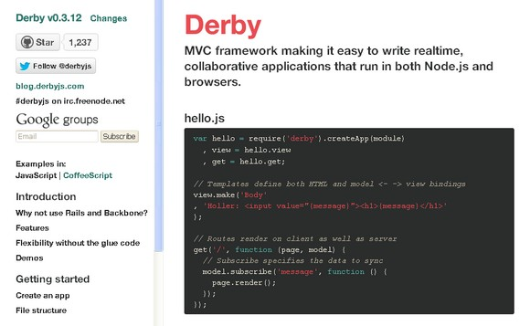 Build Realtime & Collaborative Apps with Derby MVC