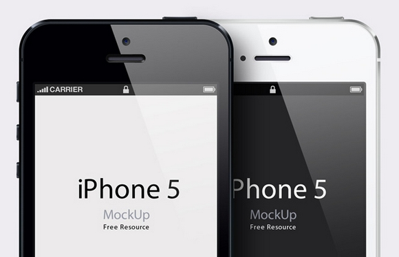 A Collection of Free iPhone 5 PSD Templates