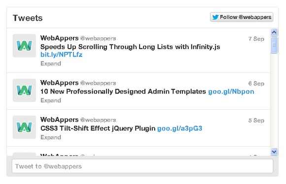 New Interactive Twitter Timelines for Web Developers