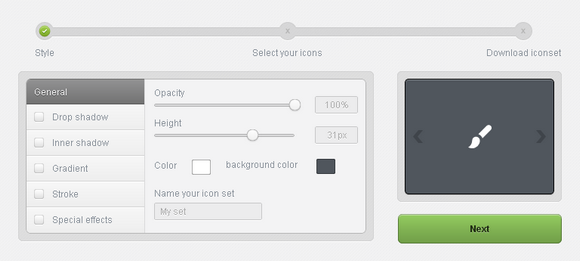 Style & Add Special Effects to Icons with Iconbench