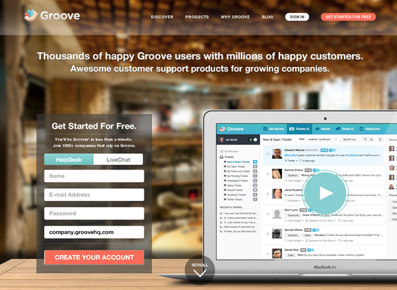 Groove: Online Customer Support & LiveChat Software