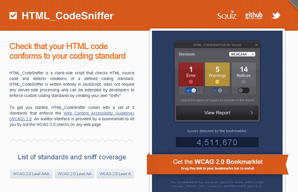 html-codesniffer