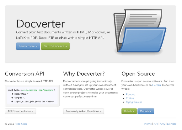 Easily Convert Documents into HTML, PDF, LaTeX, ePub