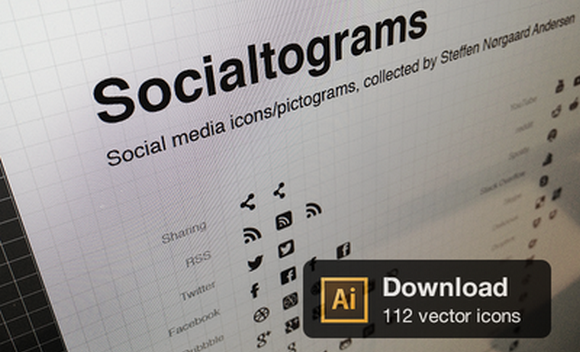 112 Social Vector Icons & Pictograms Free for Download