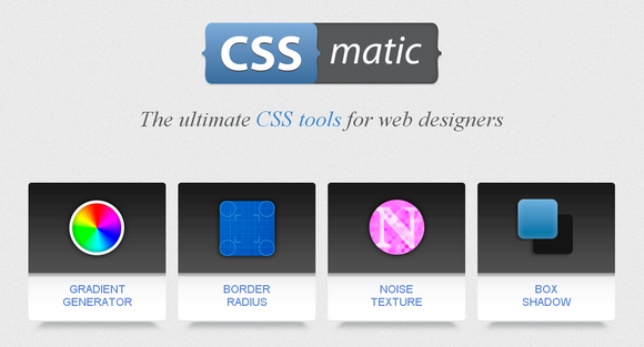 CSS Matic: The Ultimate CSS Tools for Web Designers