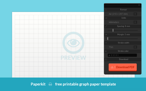 Generate Printable Graph & Grid Paper with Paperkit