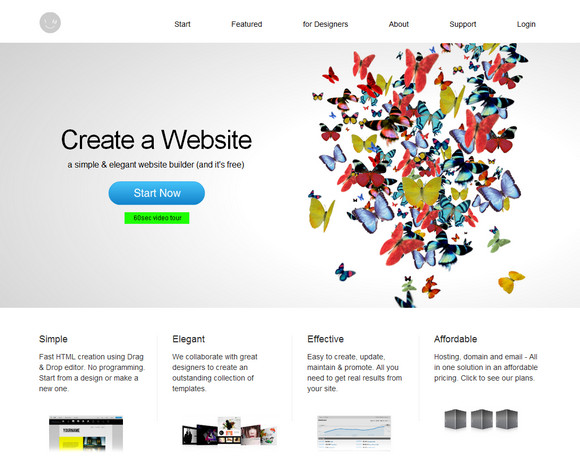 IMCreator: A Simple & Free Website Builder