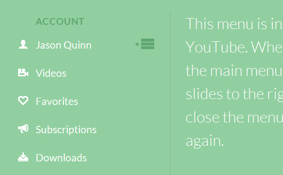 How to Create a Youtube Menu Effect with CSS & JS