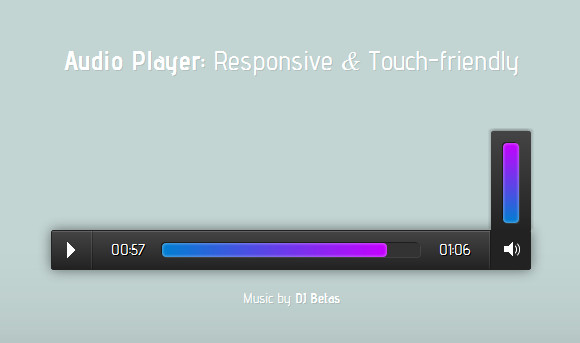 responsive-touch-audio-player