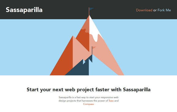 Easily Start Responsive Websites with Sassaparilla