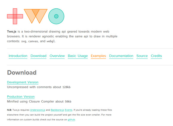 Two js: 2D Drawing API for Modern Browsers | Web Resources | WebAppers