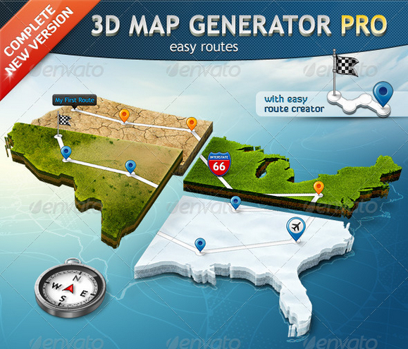 3d map generator photoshop action free download