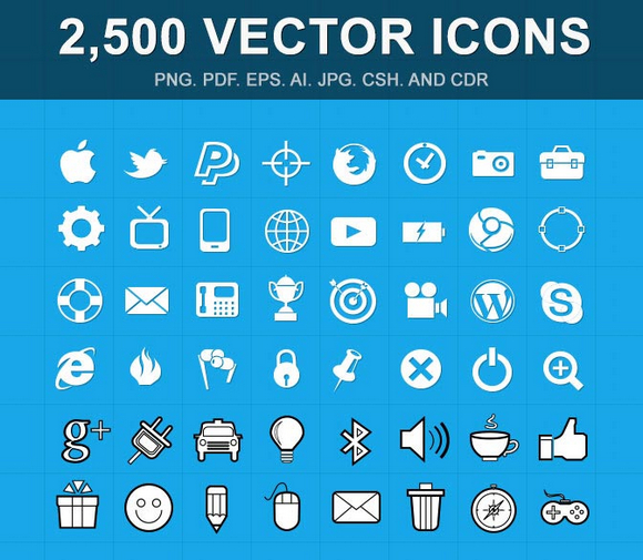 2500-vector-icons