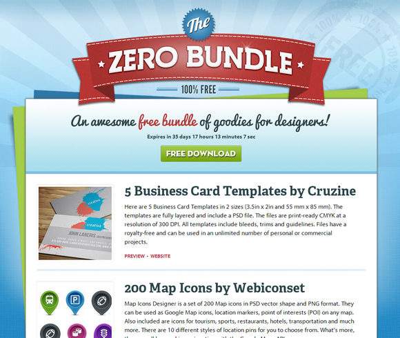 Zero Bundle with Free Design Goodies and PSDs | Web