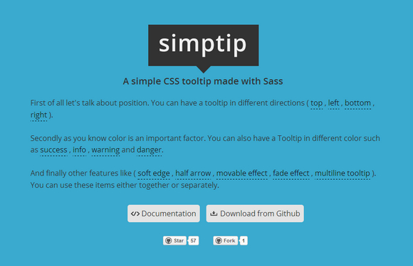 Simptip - A Simple CSS Tooltip Made with Sass | Web