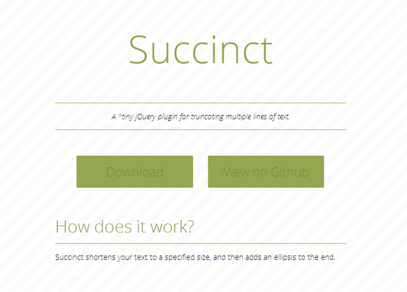 Truncate Lines of Text with Succinct jQuery Plugin | Web