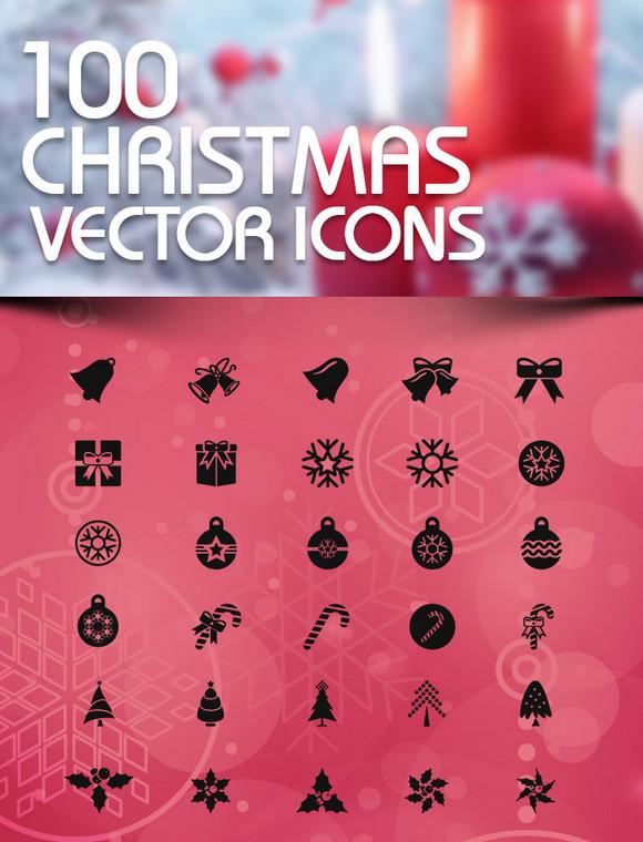 100-christmas-icons