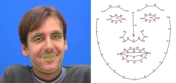 code promo b0b4f 1d600 Javascript Library for Precise Tracking of Facial Features ...