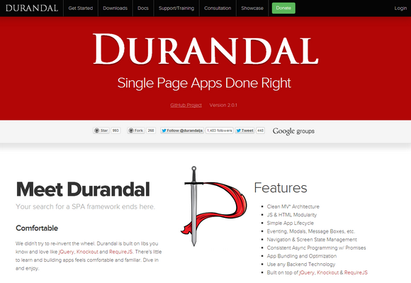 Durandal - Designed to Make Single Page Applications | Web Resources