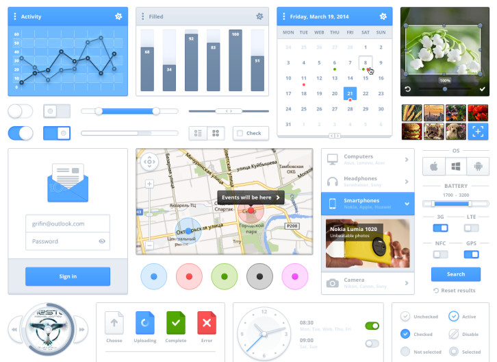 free download modern user interface pack web resources webappers