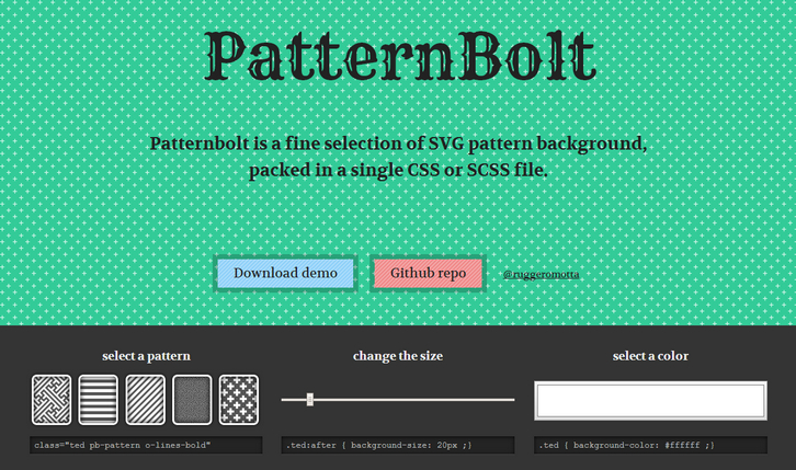 Pattern Bolt - A Collection of SVG Pattern Backgrounds | Web