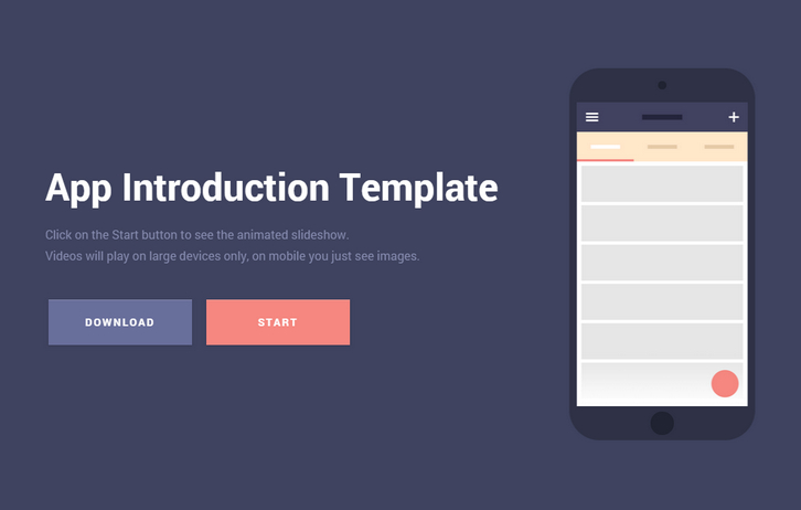 free download mobile app introduction template web resources