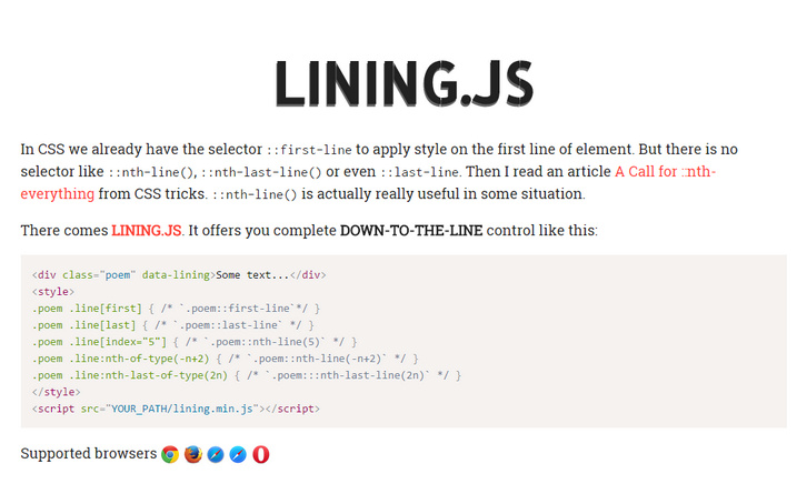 lining-js