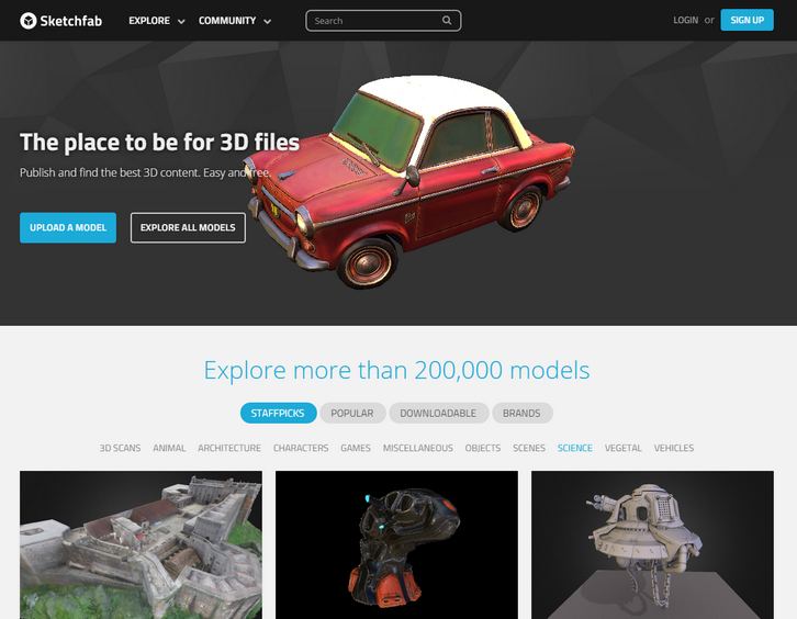 Publish, Share and Embed 3D Models on Sketchfab | Web