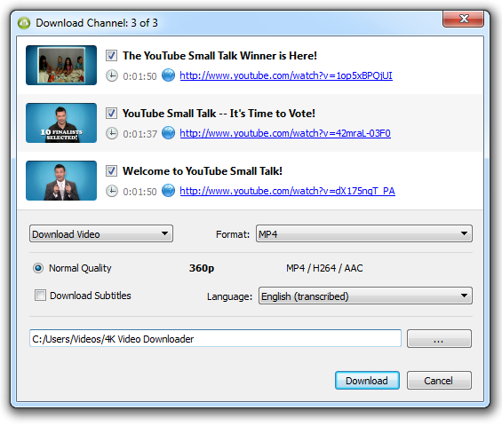 4K Video Downloader to Backup your YouTube Channel | Web