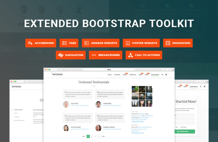 intense - extended Bootstrap toolkit