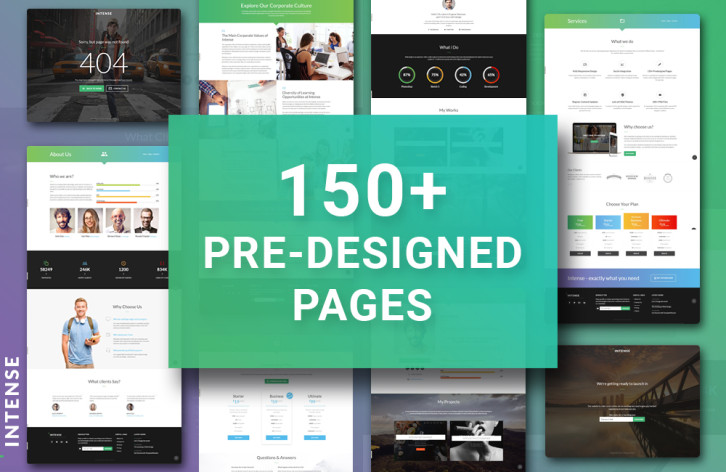 intense - pre-designed pages