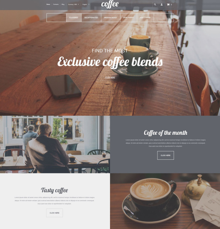 10-coffee-house Shopify theme