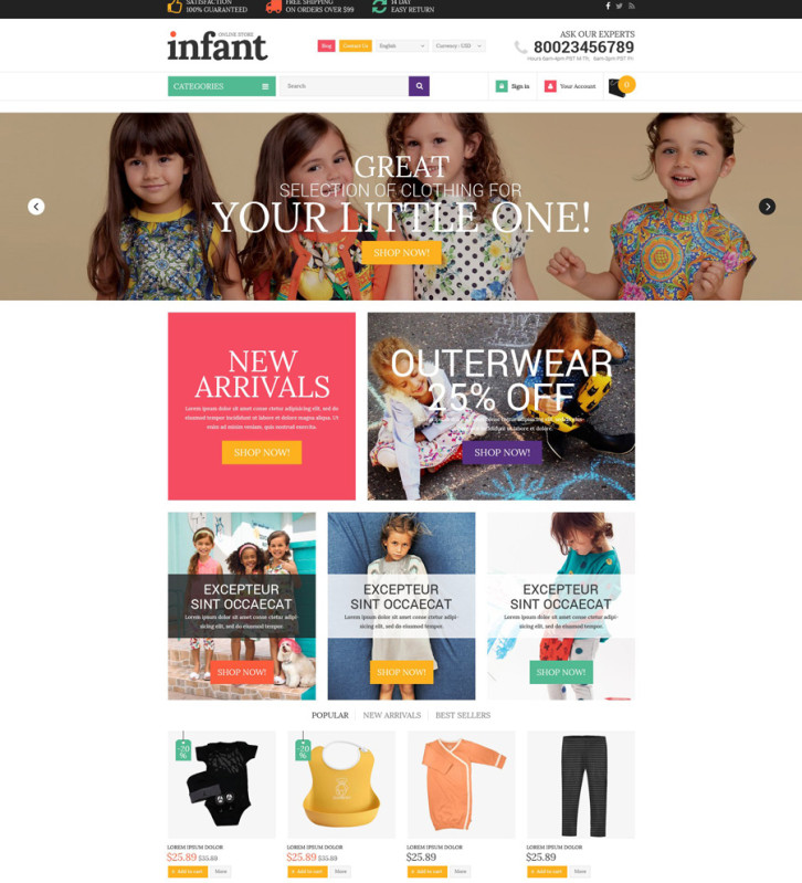 12-baby-store Shopify theme